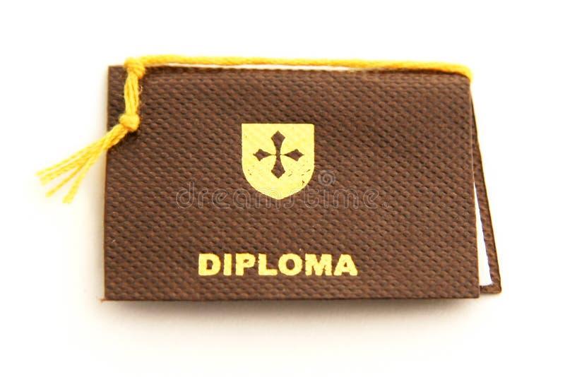 Schulen Sie Diplom lizenzfreie stockbilder