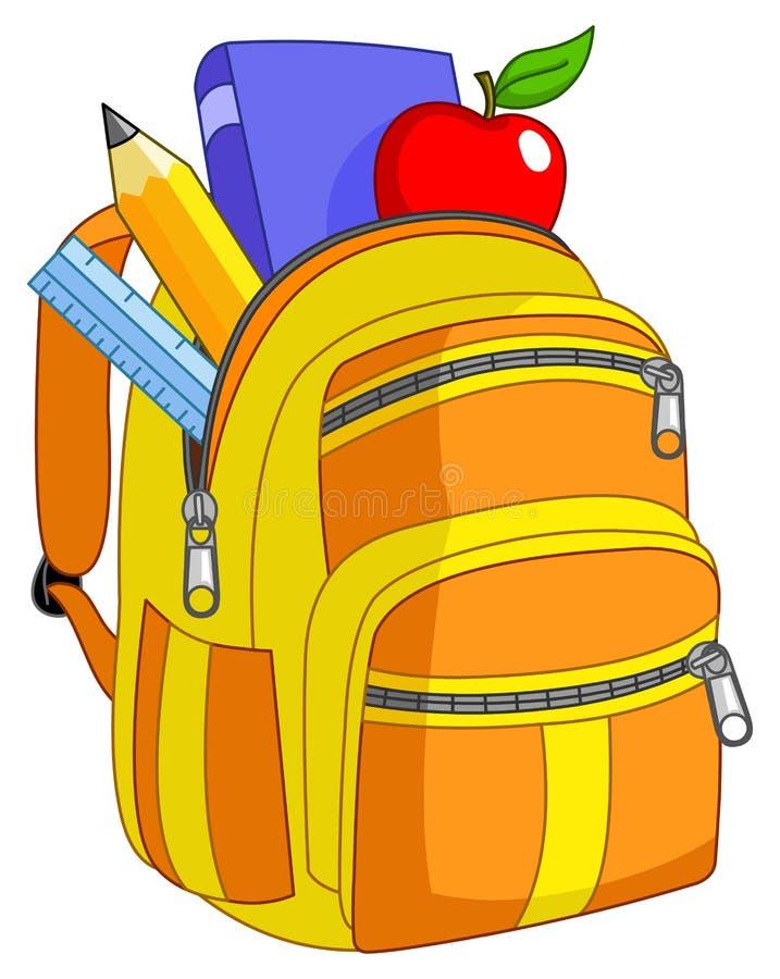 Schulerucksack lizenzfreie abbildung