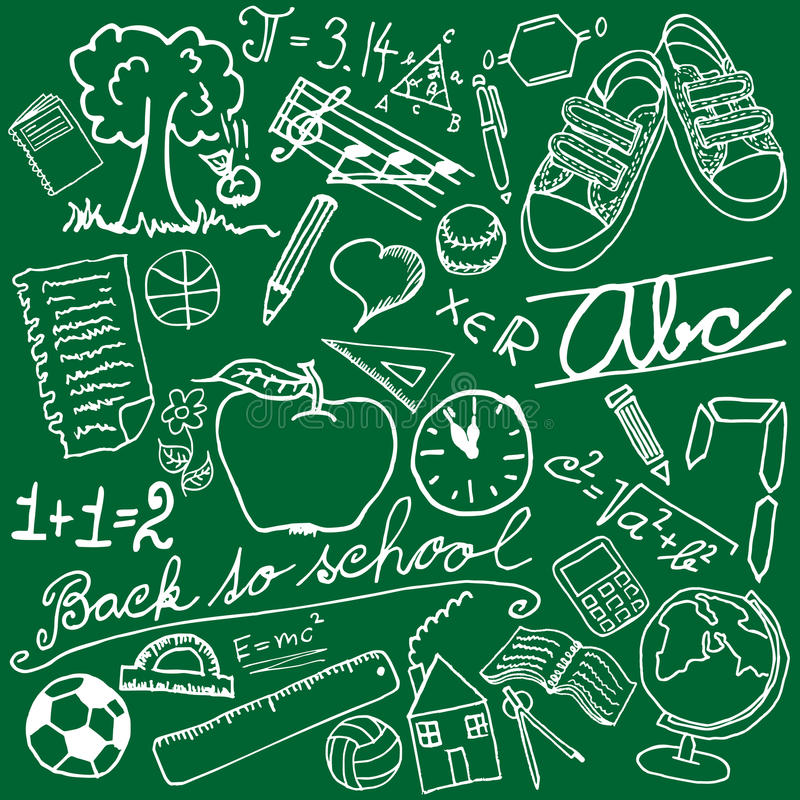 Schulesymbole lizenzfreie abbildung