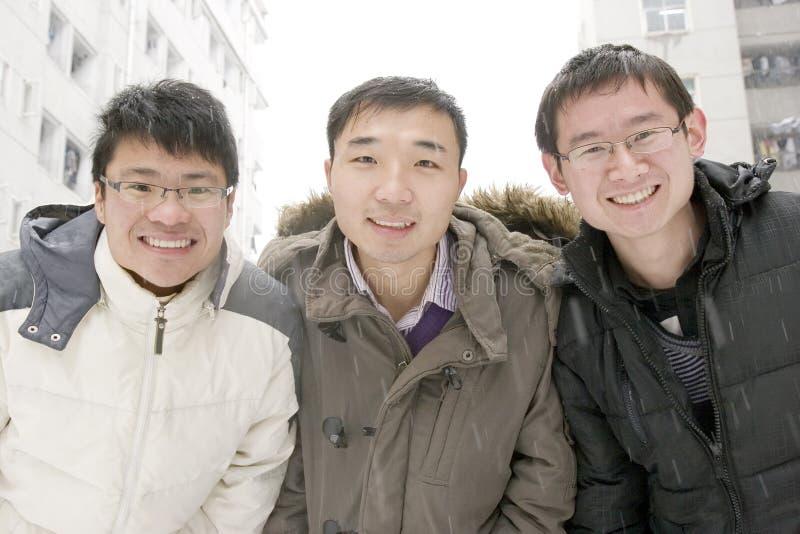 Schuleteam Im Schnee Lizenzfreie Stockbilder