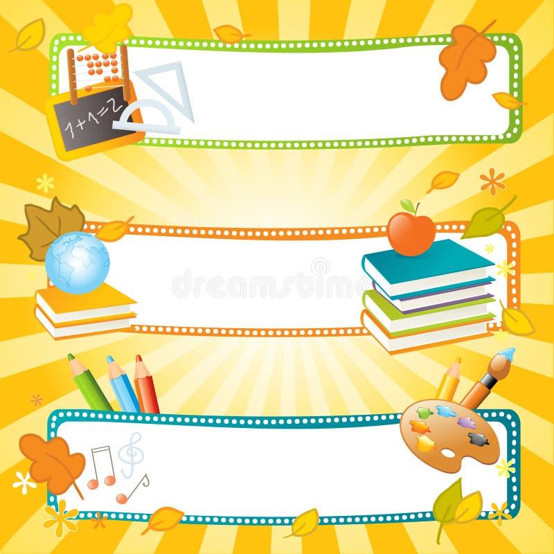 Schulevektorfahnen lizenzfreie abbildung