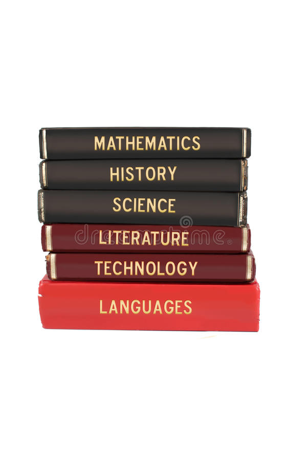 Schulfachbücher lizenzfreie stockfotos