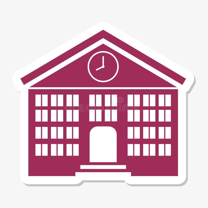Schulgebäudeaufkleber vektor abbildung