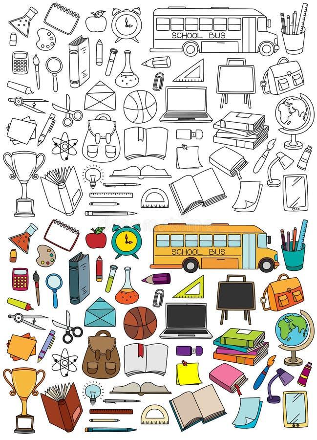 Schulgestaltungselemente lizenzfreie abbildung