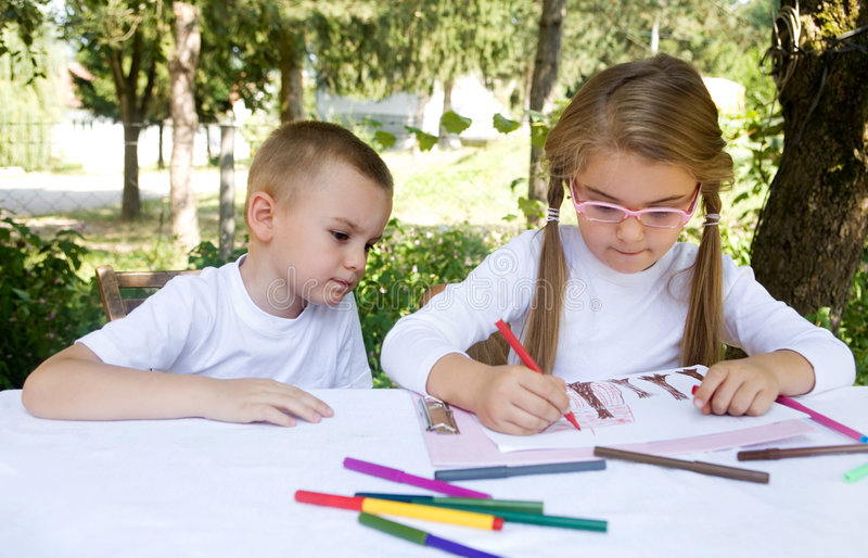 Schulkinder lizenzfreie stockfotografie
