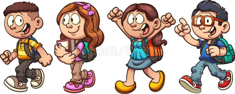 Schulkinder stock abbildung