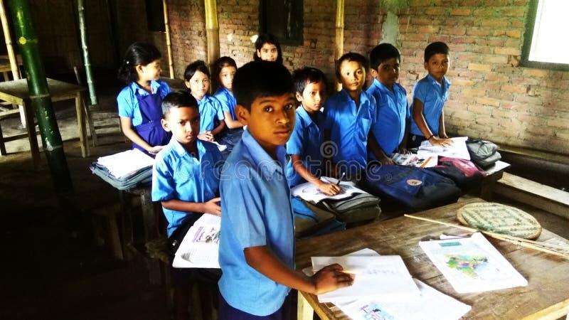 Schulkinder von Indien stockfotografie