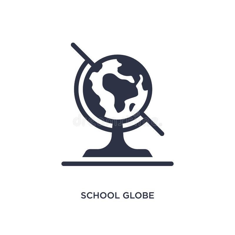 Schulkugelikone auf weißem Hintergrund Einfache Elementillustration vom Ausbildungskonzept stock abbildung