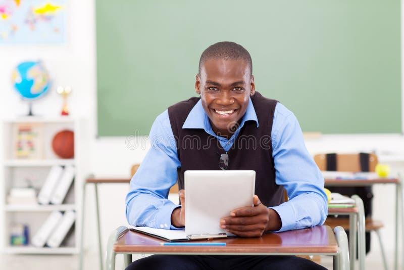 Schullehrertablette stockfotos