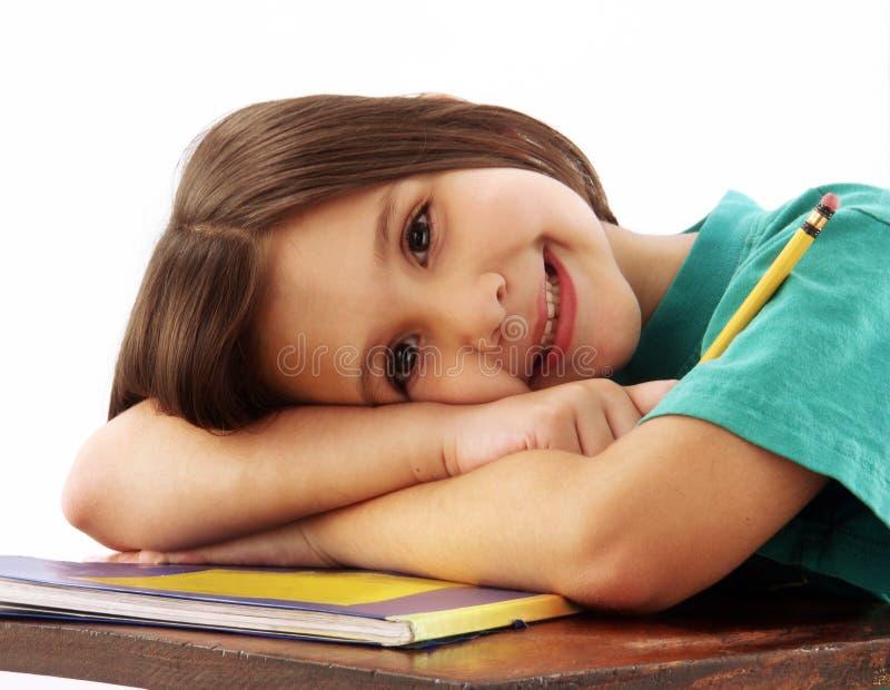 Schulmädchen. stockbilder