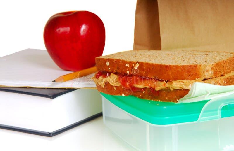 Schulmahlzeit stockbild