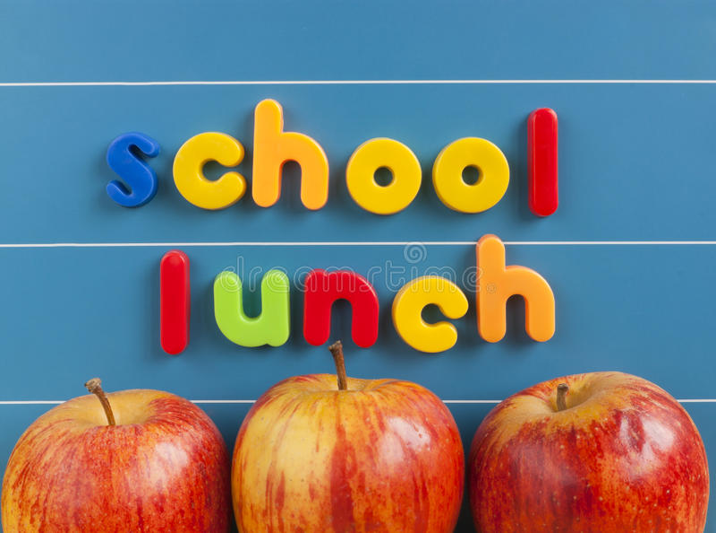 Schulmahlzeitkonzept lizenzfreies stockbild