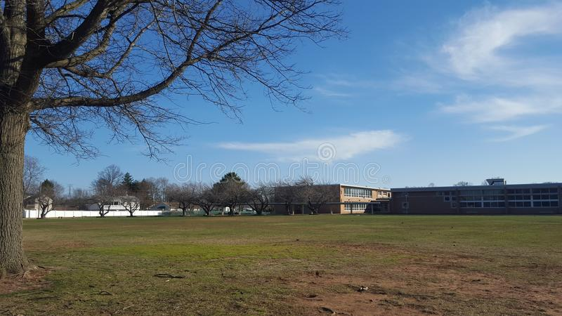 Schulparkplatz lizenzfreies stockfoto