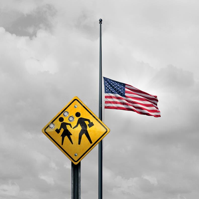 Schulschießen-Tragödie stockbild