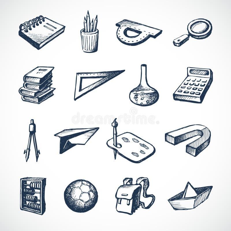 Schulskizzen-Ikonen vektor abbildung