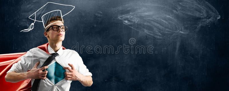 Schulsuperheld lizenzfreie stockbilder