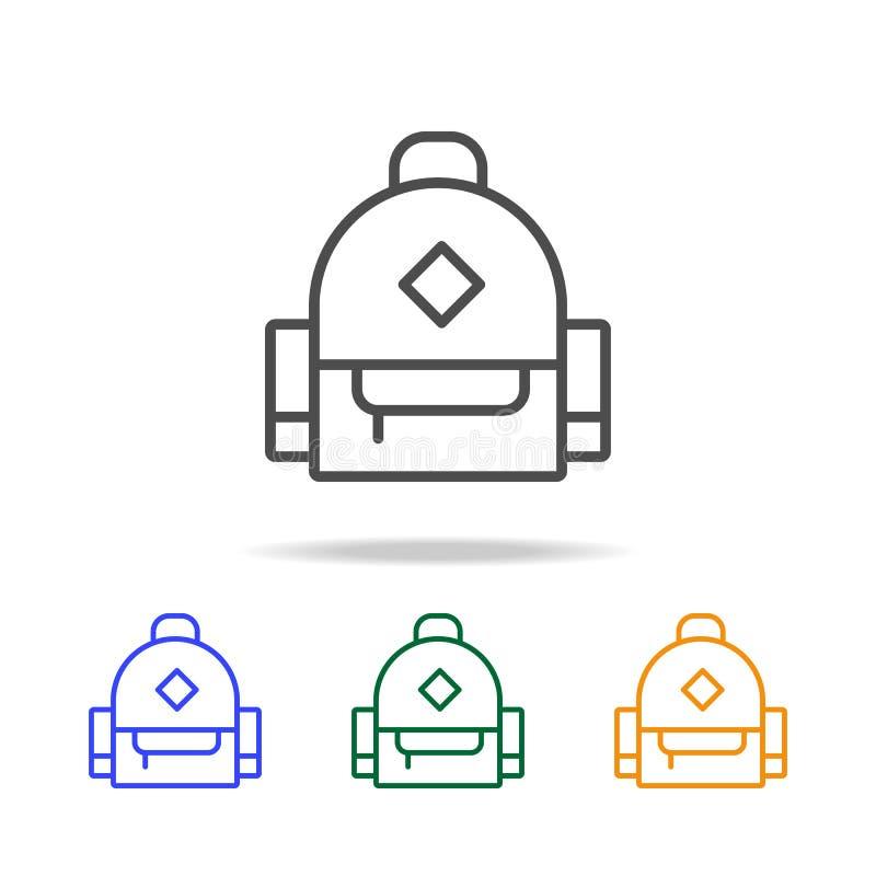 Schultaschenikonen Element von edecation für bewegliche Konzept und Netz apps Dünne Linie Ikone für Websitedesign und Entwicklung stock abbildung