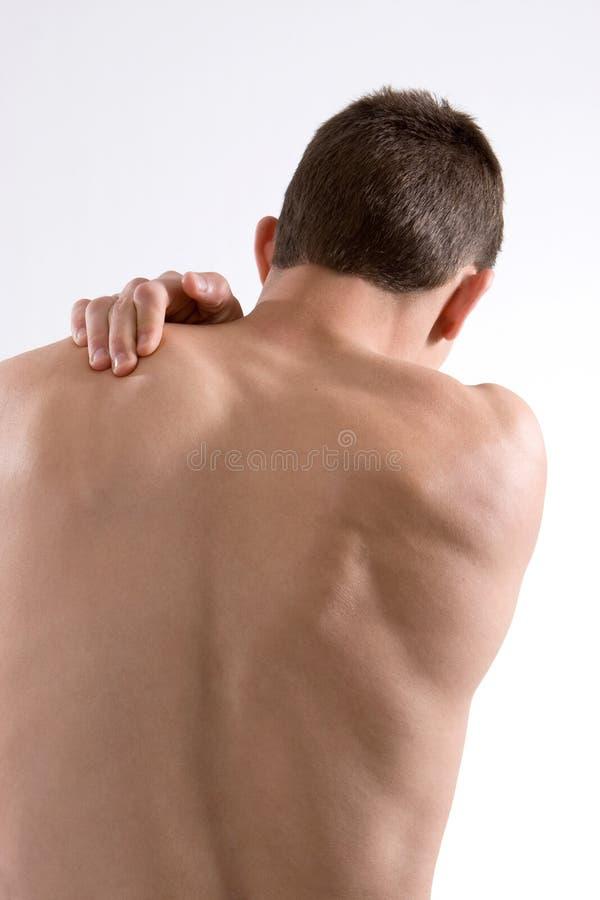 Schulter-Schmerz stockfoto