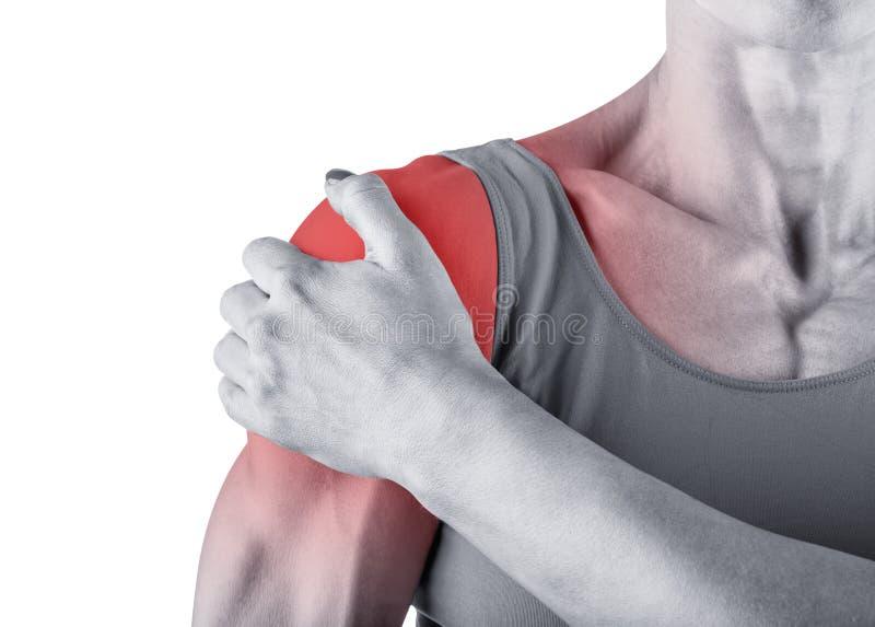 Schulterschmerz lizenzfreies stockbild
