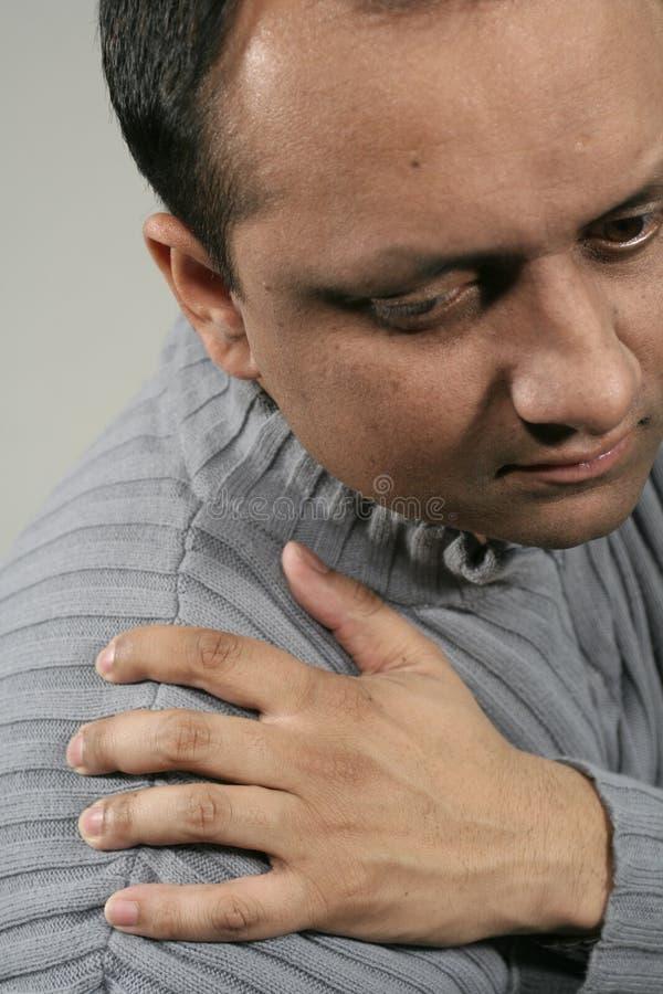 Schulterschmerz stockfotos