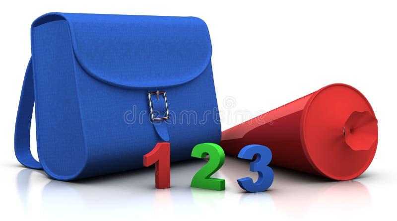 schultuete för 123 satchel vektor illustrationer