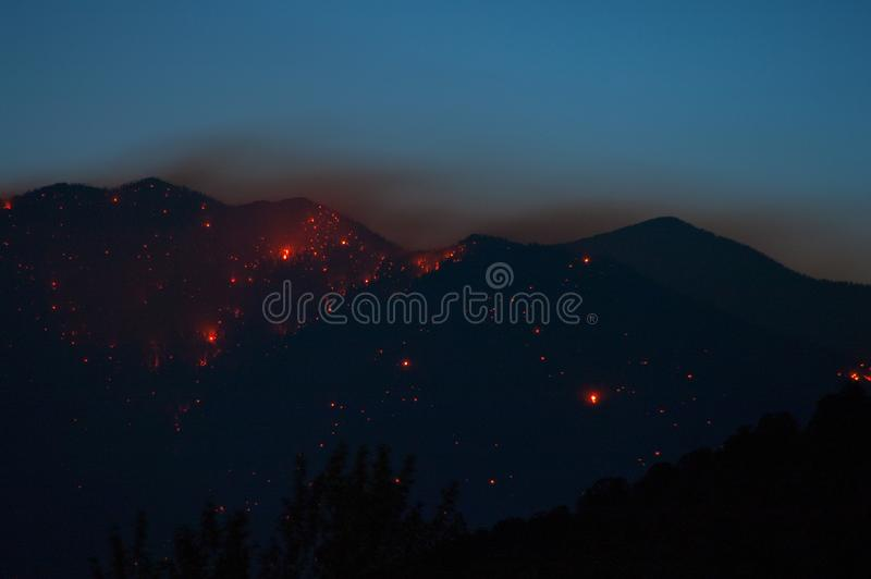 Schultz Fire stock photography