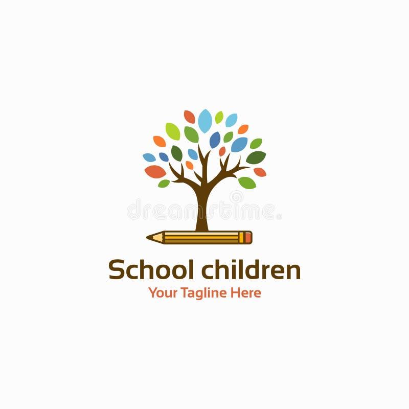 Schulvektorlogo lizenzfreie abbildung