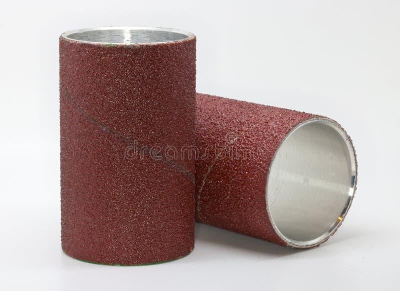 Schurend rollenCarborundum stock foto's