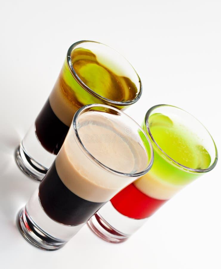 Schuss-Cocktails lizenzfreies stockfoto