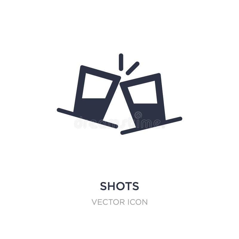 Schussikone auf weißem Hintergrund Einfache Elementillustration vom Alkoholkonzept lizenzfreie abbildung
