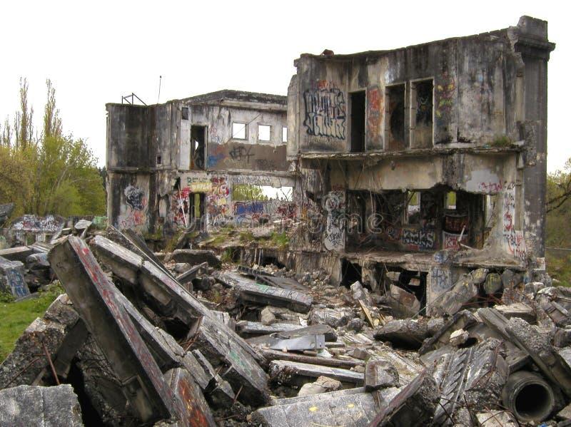 Schutt und Ruinen lizenzfreies stockbild