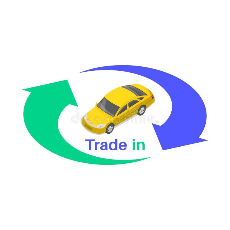 Schutters van uitwisseling met de auto stock illustratie