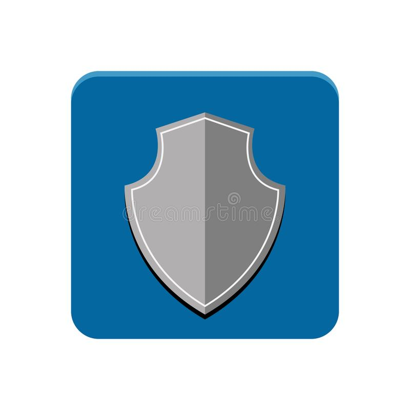 Schutz-APP-Knopf stock abbildung