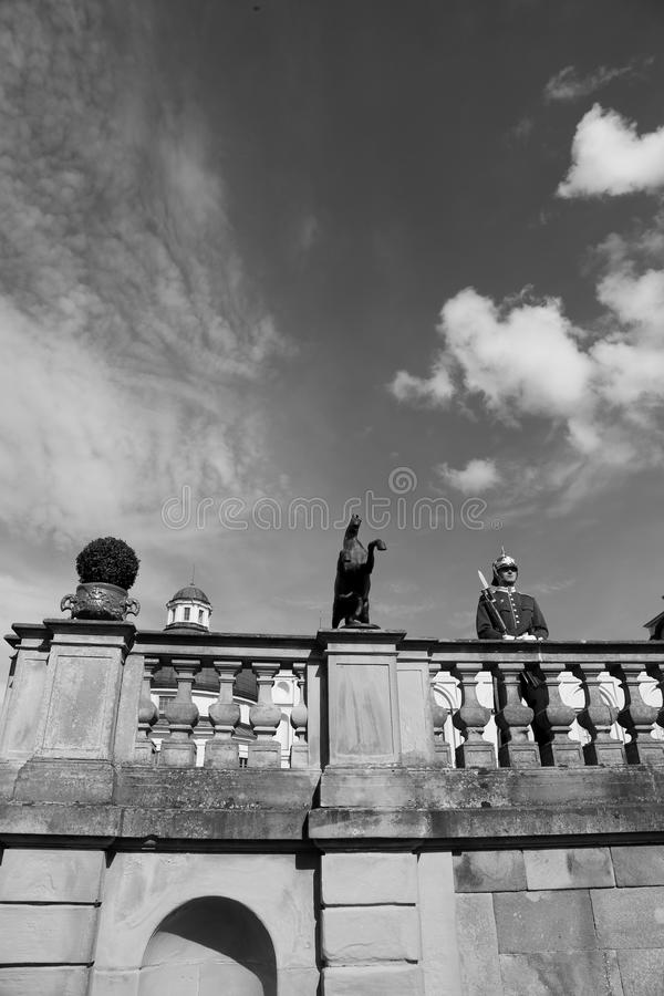 Schutz - Drottningholm-Palast stockfotografie
