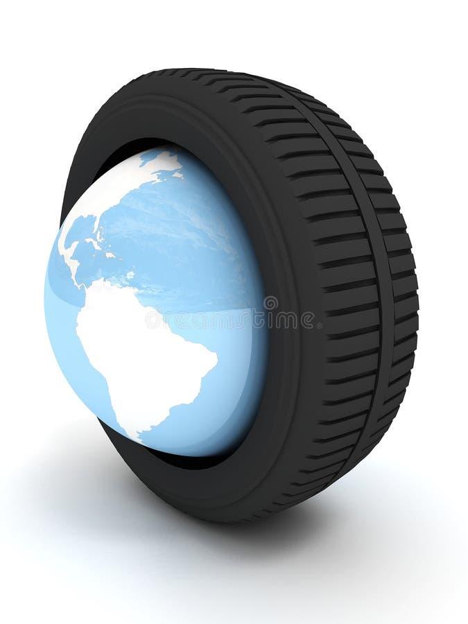 Schutz mit Planet Erde lizenzfreie abbildung