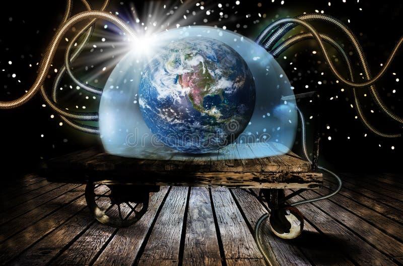 Schutz von Erde stock abbildung
