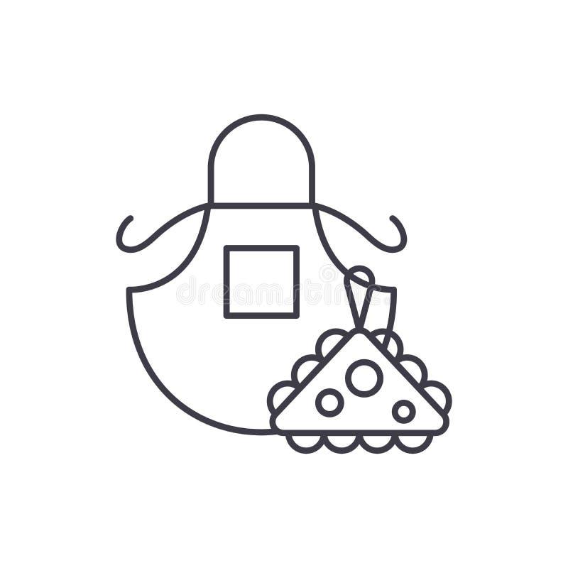 Schutzblechlinie Ikonenkonzept Lineare Illustration des Schutzblechvektors, Symbol, Zeichen stock abbildung