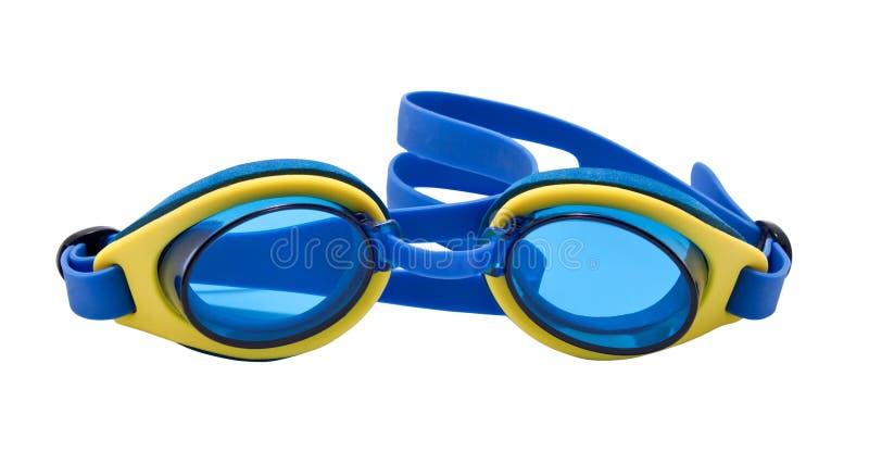 Schutzbrillen für Schwimmen lizenzfreies stockfoto