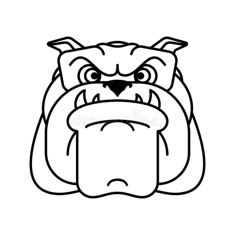 Schutzhundegesicht Verärgerter Hundezugzielanzeiger Auch im corel abgehobenen Betrag vektor abbildung