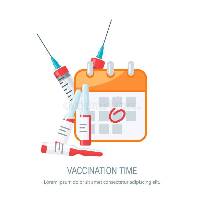 Schutzimpfungskonzept, Vektorbild in der flachen Art stock abbildung