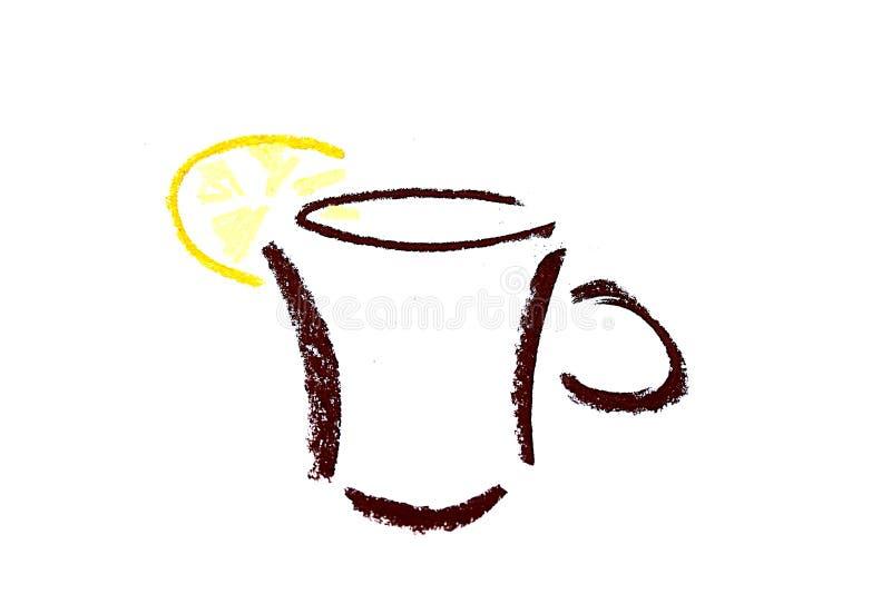 Schutzkappe des Tees mit Zitroneauszugsikone vektor abbildung