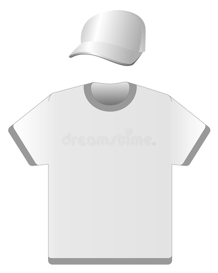 Schutzkappe und T-Shirt vektor abbildung