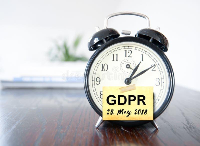 Schutzregelung allgemeiner Daten GDPR stockbilder