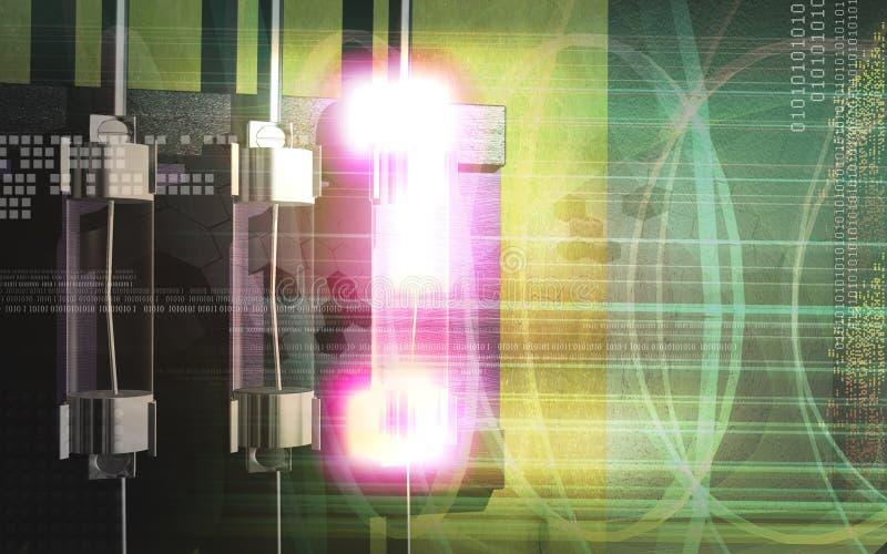 Schutzsicherung in einem Transformator stock abbildung