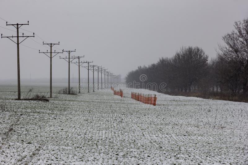Schutzsperre von der Schneespur lizenzfreie stockbilder