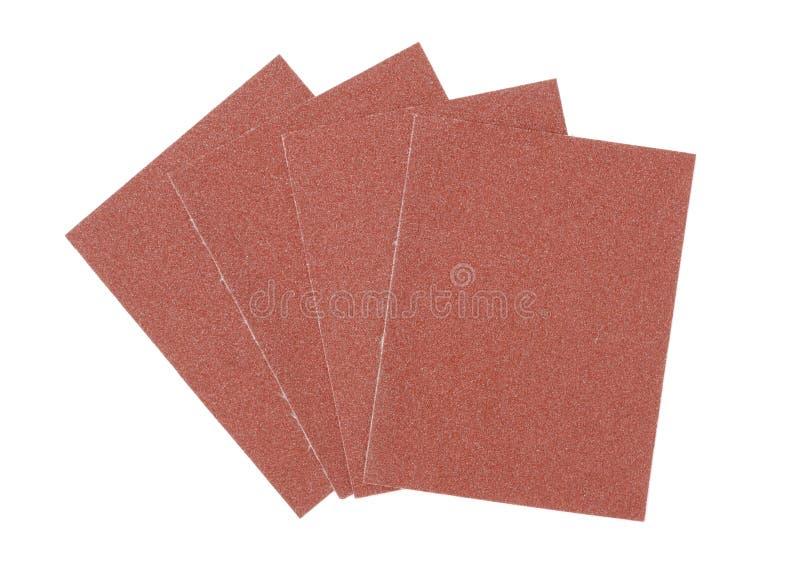 schuurpapier Materiaal voor vakman en hulpmiddel van timmerwerk stock fotografie