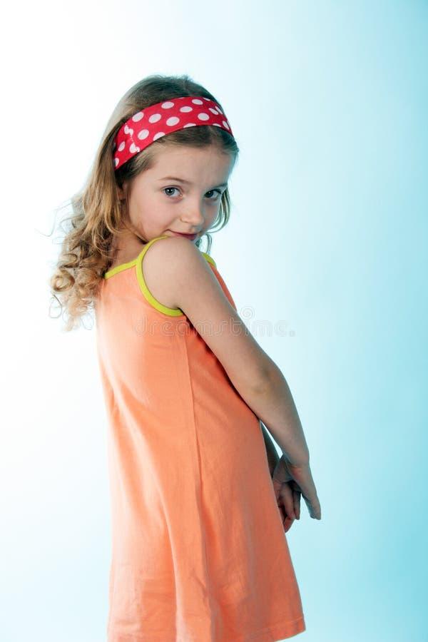 Schuw meisje stock fotografie