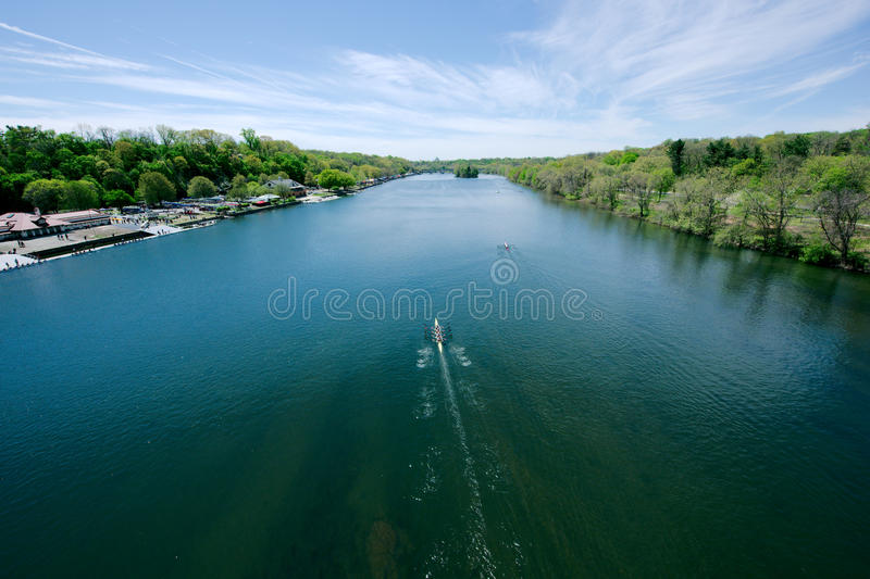 Schuylkill River Regatta competition. In Pennsylvania royalty free stock photo