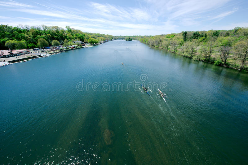 Schuylkill River Regatta competition. In Pennsylvania stock image