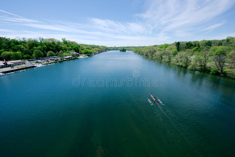 Schuylkill River Regatta competition. In Philadelphia, Pennsylvania royalty free stock images